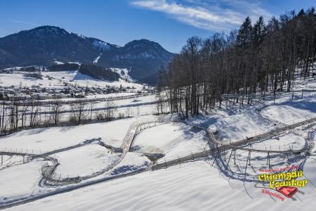Rodelspaß im Winter mit dem Chiemgau Coaster